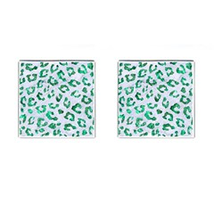Skin5 White Marble & Green Marble Cufflinks (square)