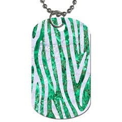 Skin4 White Marble & Green Marble (r) Dog Tag (two Sides)