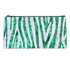 Skin4 White Marble & Green Marble (r) Pencil Cases