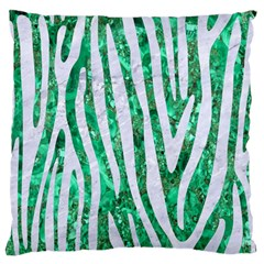 Skin4 White Marble & Green Marble (r) Large Flano Cushion Case (two Sides)