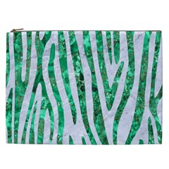 Skin4 White Marble & Green Marble Cosmetic Bag (xxl)