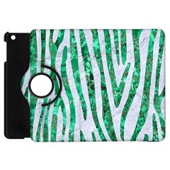 Skin4 White Marble & Green Marble Apple Ipad Mini Flip 360 Case