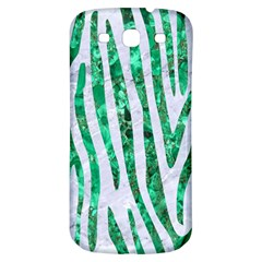 Skin4 White Marble & Green Marble Samsung Galaxy S3 S Iii Classic Hardshell Back Case