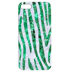 Skin4 White Marble & Green Marble Apple Iphone 5 Hardshell Case With Stand