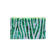 Skin4 White Marble & Green Marble Cosmetic Bag (xs)