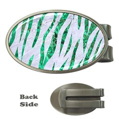 Skin3 White Marble & Green Marble (r) Money Clips (oval)