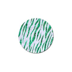 Skin3 White Marble & Green Marble (r) Golf Ball Marker (10 Pack)