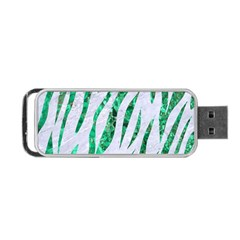 Skin3 White Marble & Green Marble (r) Portable Usb Flash (one Side)