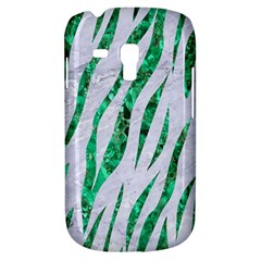 Skin3 White Marble & Green Marble (r) Samsung Galaxy S3 Mini I8190 Hardshell Case