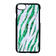 Skin3 White Marble & Green Marble (r) Apple Iphone 7 Seamless Case (black) by trendistuff
