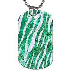 Skin3 White Marble & Green Marble Dog Tag (two Sides)