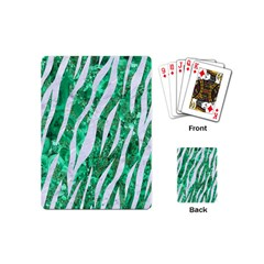 Skin3 White Marble & Green Marble Playing Cards (mini)