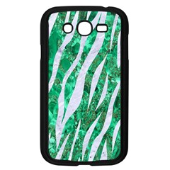 Skin3 White Marble & Green Marble Samsung Galaxy Grand Duos I9082 Case (black) by trendistuff