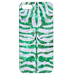 Skin2 White Marble & Green Marble (r) Apple Iphone 5 Hardshell Case With Stand