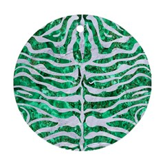 Skin2 White Marble & Green Marble Ornament (round)