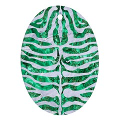 Skin2 White Marble & Green Marble Ornament (oval)