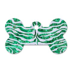 Skin2 White Marble & Green Marble Dog Tag Bone (one Side)