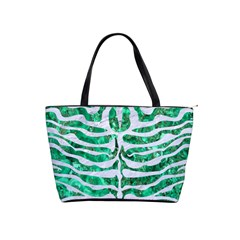 Skin2 White Marble & Green Marble Shoulder Handbags
