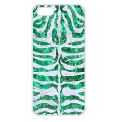 Skin2 White Marble & Green Marble Apple Iphone 5 Seamless Case (white)