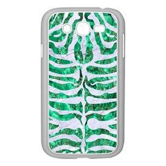 Skin2 White Marble & Green Marble Samsung Galaxy Grand Duos I9082 Case (white)