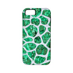 Skin1 White Marble & Green Marble (r) Apple Iphone 5 Classic Hardshell Case (pc+silicone)
