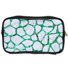 Skin1 White Marble & Green Marble Toiletries Bags 2 Side