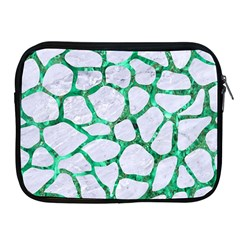 Skin1 White Marble & Green Marble Apple Ipad 2/3/4 Zipper Cases