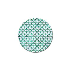 Scales3 White Marble & Green Marble (r) Golf Ball Marker (10 Pack)