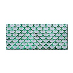 Scales3 White Marble & Green Marble (r) Hand Towel