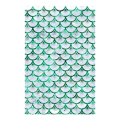 Scales3 White Marble & Green Marble (r) Shower Curtain 48  X 72  (small)