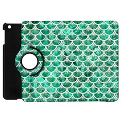 Scales3 White Marble & Green Marble Apple Ipad Mini Flip 360 Case