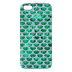 Scales3 White Marble & Green Marble Apple Iphone 5 Premium Hardshell Case