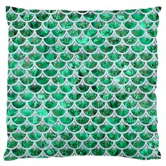 Scales3 White Marble & Green Marble Standard Flano Cushion Case (one Side) by trendistuff