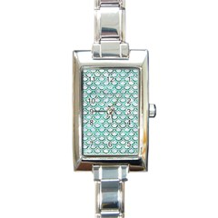 Scales2 White Marble & Green Marble (r) Rectangle Italian Charm Watch