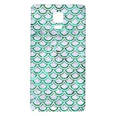 Scales2 White Marble & Green Marble (r) Samsung Note 4 Hardshell Back Case