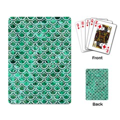 Scales2 White Marble & Green Marble Playing Card