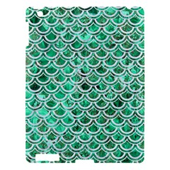 Scales2 White Marble & Green Marble Apple Ipad 3/4 Hardshell Case