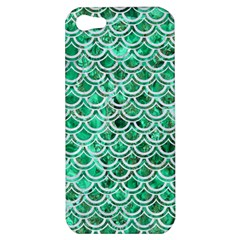 Scales2 White Marble & Green Marble Apple Iphone 5 Hardshell Case