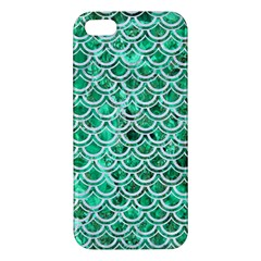 Scales2 White Marble & Green Marble Apple Iphone 5 Premium Hardshell Case