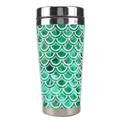 Scales2 White Marble & Green Marble Stainless Steel Travel Tumblers