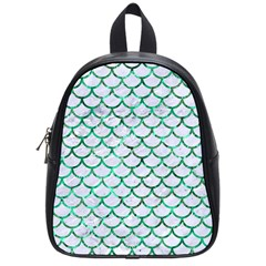 Scales1 White Marble & Green Marble (r) School Bag (small)