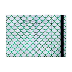 Scales1 White Marble & Green Marble (r) Apple Ipad Mini Flip Case