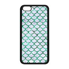 Scales1 White Marble & Green Marble (r) Apple Iphone 5c Seamless Case (black)