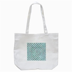 Scales1 White Marble & Green Marble (r) Tote Bag (white)
