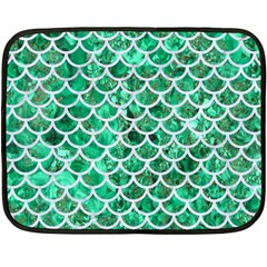 Scales1 White Marble & Green Marble Fleece Blanket (mini)