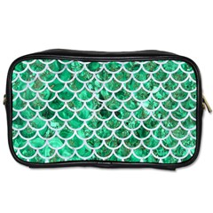 Scales1 White Marble & Green Marble Toiletries Bags