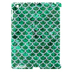 Scales1 White Marble & Green Marble Apple Ipad 3/4 Hardshell Case (compatible With Smart Cover)
