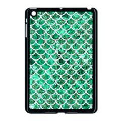 Scales1 White Marble & Green Marble Apple Ipad Mini Case (black)
