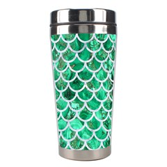 Scales1 White Marble & Green Marble Stainless Steel Travel Tumblers