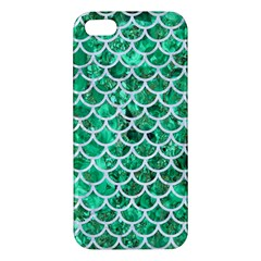 Scales1 White Marble & Green Marble Iphone 5s/ Se Premium Hardshell Case